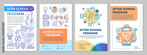 Photo After school program cover design brochure template layout