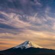 Leinwanddruck Bild - Mt. Fuji at kawaguchiko Fujiyoshida, Japan.