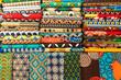 Leinwanddruck Bild - Plenty of colorful african fabrics