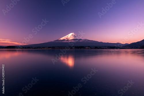 Poster Kyoto Mt. Fuji at kawaguchiko Fujiyoshida, Japan.