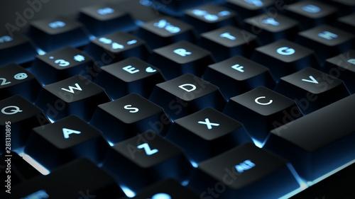 Photo Backlit keyboard close up