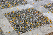 Background From Paving Of Smal...
