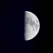 The Half Moon And Its Craters.