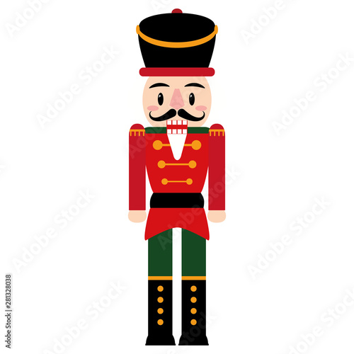Fotomural Vector cartoon cute nutcracker isolated