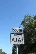 A1A Highway Sign.