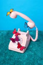 Butterflies On Pink Rotaryphone