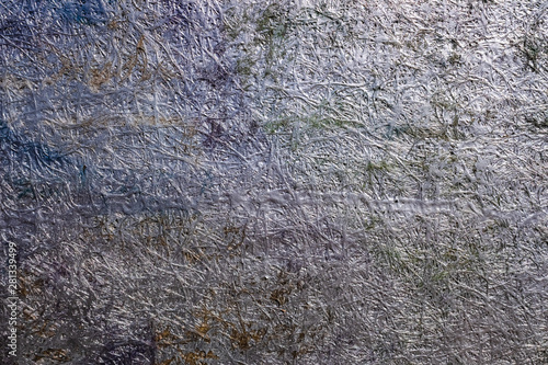 Abstract background of the metallic surface of a conglomerate of painted materials Fototapeta