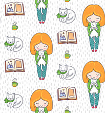 Cozy Seamless Patterns With Gi...