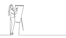 Continuous Line Drawing Of A W...