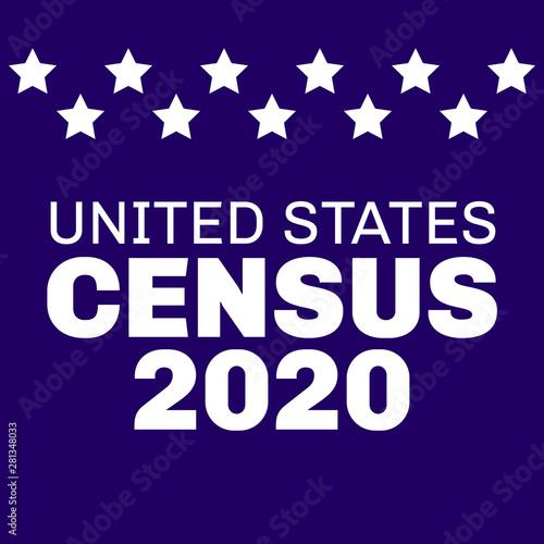 census 2020 united states - banner Canvas-taulu