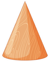 Wooden Cone Shape 3D Object