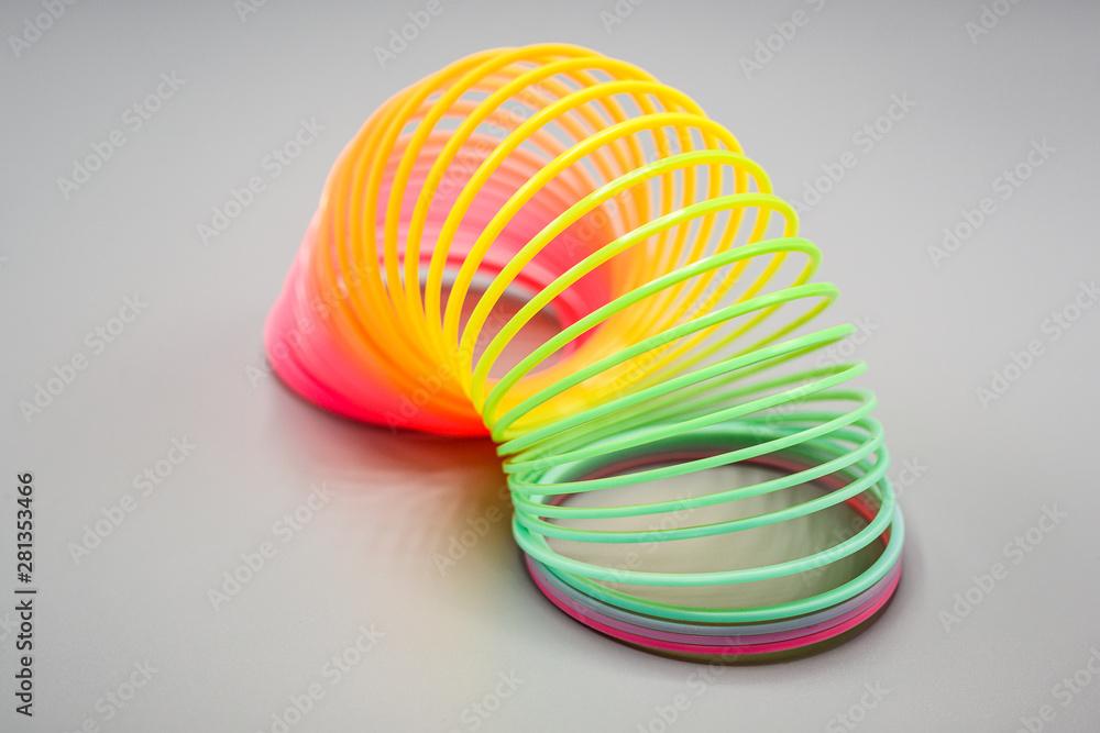 Fototapeta Rainbow spring toy