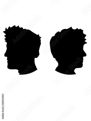 Valokuva köpfe clipart brüder logo profil kreis rund liebe 2 freunde team paar design coo