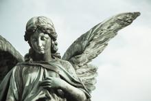 Sad Angel Sculpture With Open ...