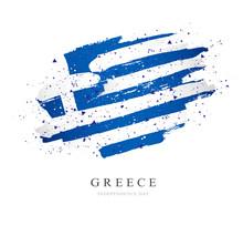 Flag Of Greece. Vector Illustr...