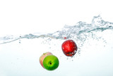 Falling Fruits Into Clean Water