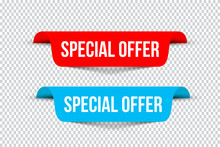Special Offer Banners With Sha...