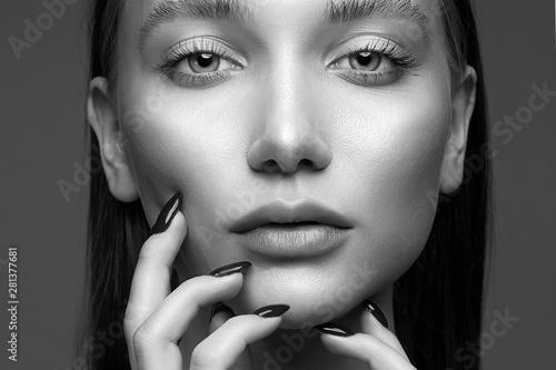 sensual amazing girl with beautiful make-up
