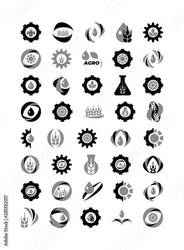 Photo Agro logo icons set