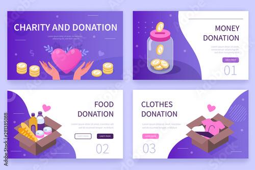 Fototapeta charity and donation