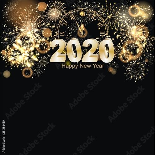 Obraz Hintergrund mit Feuerwerk zum Jahreswechsel - fototapety do salonu
