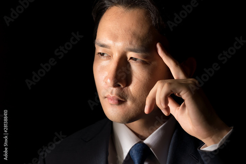 Fototapeta ビジネスマン・黒バック