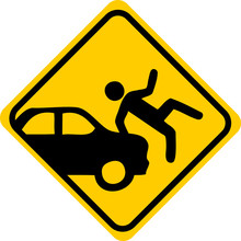 Watch For Car Sign, Warning, R...
