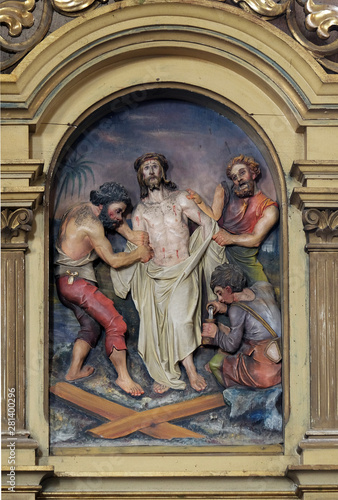 10th Stations of the Cross, Jesus is stripped of His garments, Saint John the Ba Fototapet