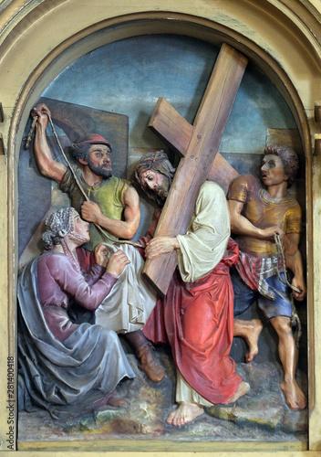 6th Stations of the Cross, Veronica wipes the face of Jesus, Saint John the Bapt Fototapeta
