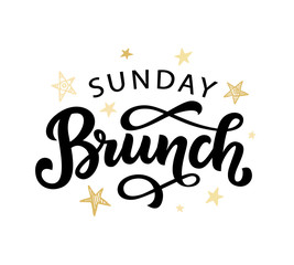 Sunday Brunch calligraphy v...