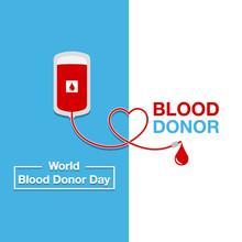 World Blood Donor Day Vector. Modern Design Illustration.