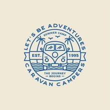 Camping Outdoor And Adventure Logos, Badges, Labels, Emblems, Marks And Design Elements. Graphic Art. Vector Illustration.