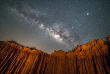 Milky Way At Lalu Rock Formations Park, Sakaeo, Thailand