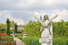 A Beautiful Angel Statue In Th...