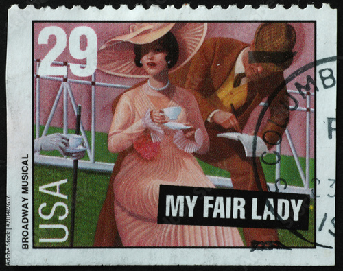 Photo  Broadway musical My fair lady on postage stamp