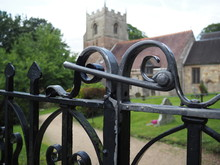 Beoley Churchyard Worcestershire England Uk