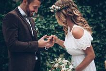 Amazing Wedding Couple. Boho Wedding.