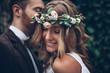 Leinwandbild Motiv Beautiful wedding couple