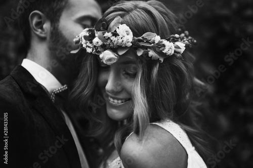 Photo Beautiful wedding couple