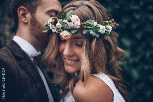 Fotografie, Obraz  Beautiful wedding couple