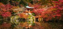 Daigoji Temple And Autumn Mapl...