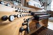 canvas print picture - Orgel, Pult, Musik