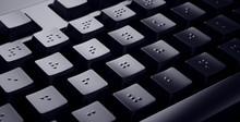 Black Braille Keyboard. Access...