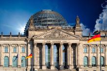 Reichstag Building, Seat Of The German Parliament (Deutscher Bundestag) In Berlin, Germany