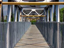 Wooden Bike Trail Bridge Acros...