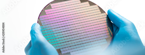 Foto Silicon wafer