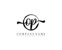 OP Initial Handwriting Logo Wi...