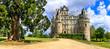 canvas print picture - Famous castles of Loire valley - beautiful romantic Chateau de Brissac, Landmarks of France