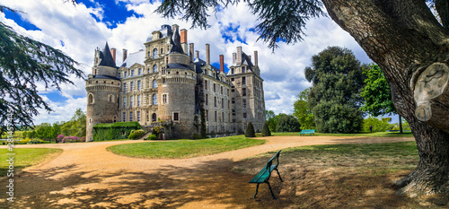 Beautiful romantic medieval castles of France - chateau de Brissac in Loire valley