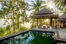 Samui/Thailand-17.02.2017:Abondoned Hotel. Camping Inside The Resort
